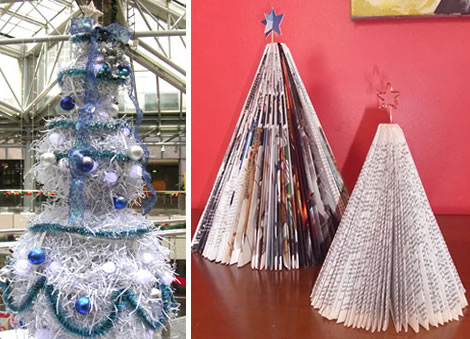 Christmas Tree Using Recycled Materials.18 Clever Christmas Trees Created With Recycled Materials