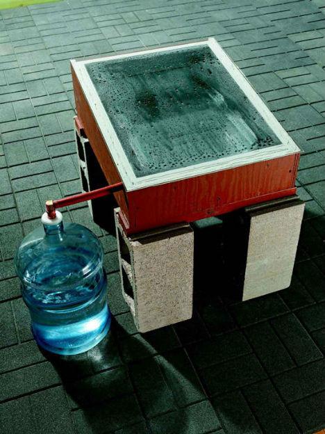Off Grid DIY Solar Still Purify Water