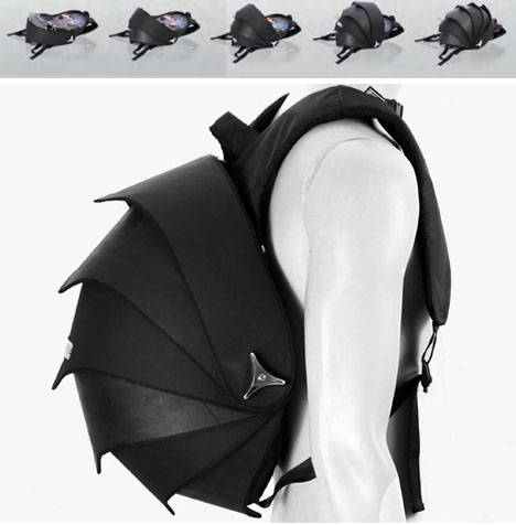 biomimicry armadillo backpack