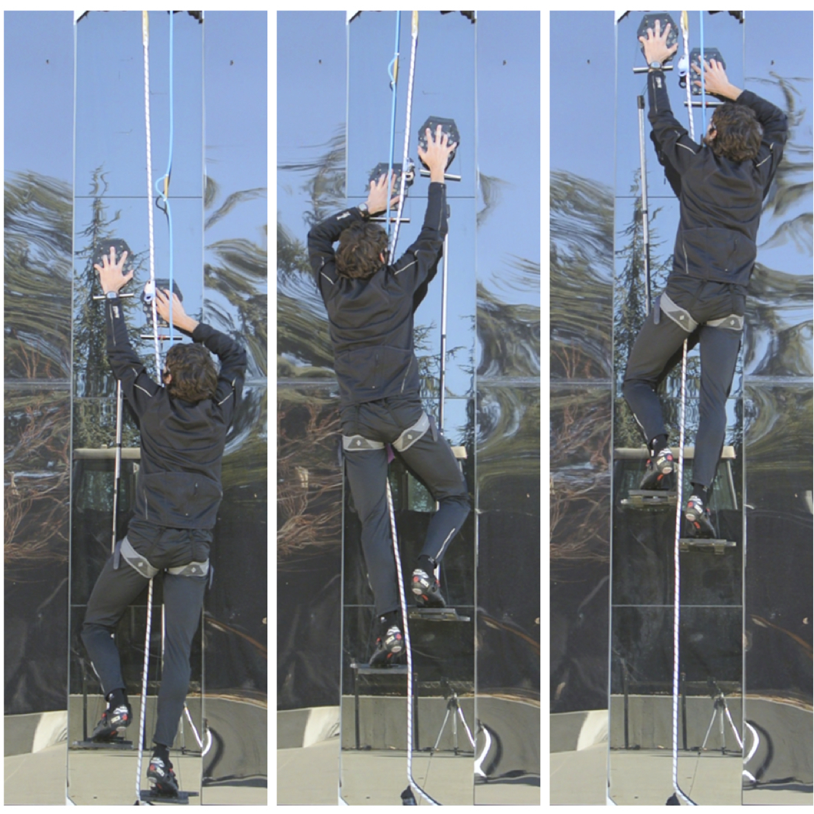 Stanford engineers climb walls using gecko-inspired climbing device...