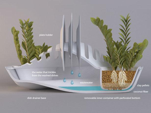 modern planter dish rack 1