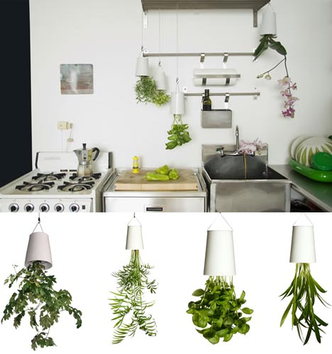 modern planters inverted