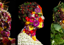 Not-So-Edible Art: Portraits Crafted from Food Waste