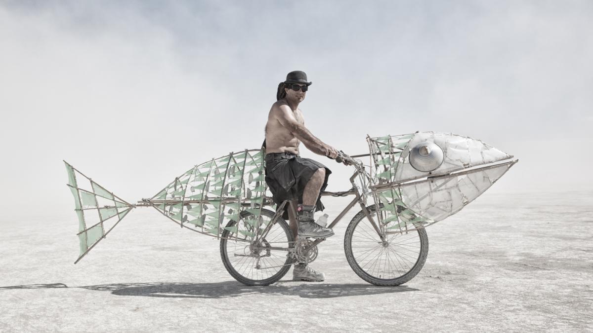 bizarre bikes burning man