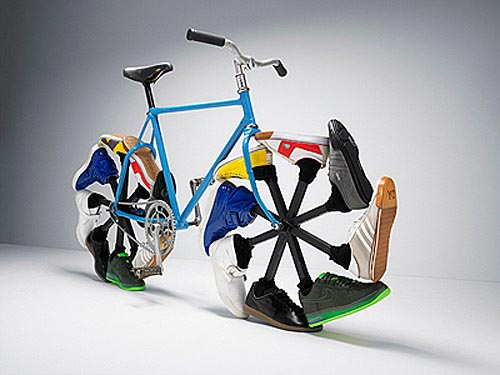 bizarre bikes walking